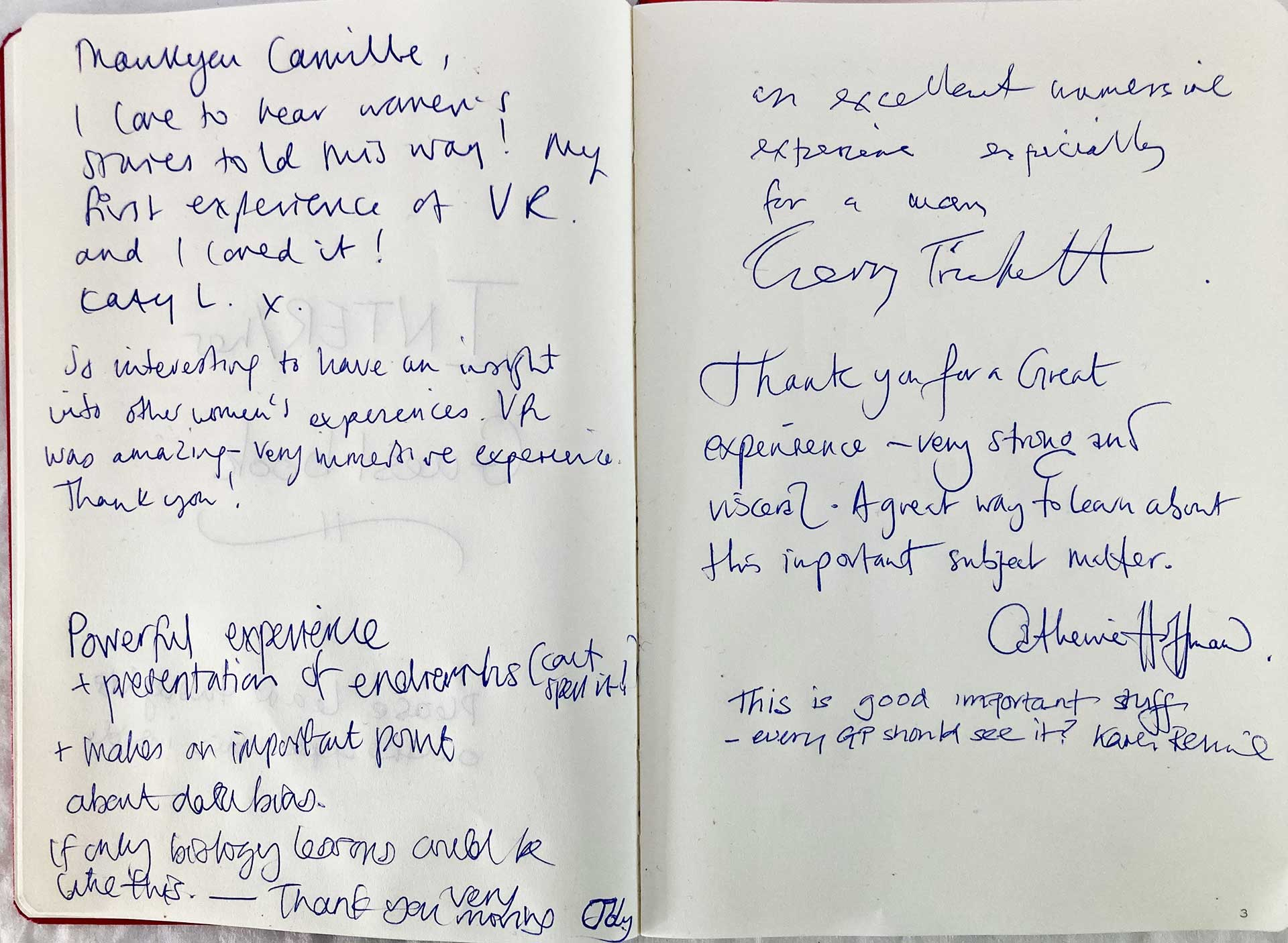 Guestbook Testimonials | INTER/her Project